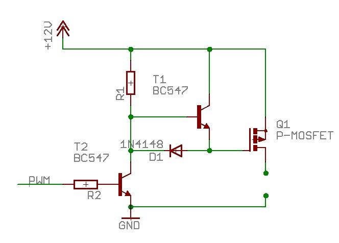 Highside P Mos Ansteuern Mit Ir2121 Mikrocontroller Net