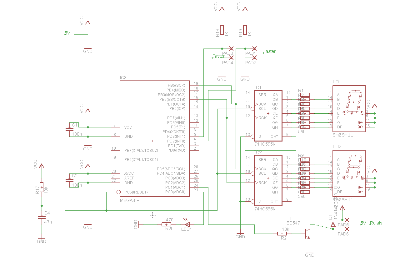 Projekt bitte mal anschauen Mega8 (Schaltplan, Layout, ASM Code ...