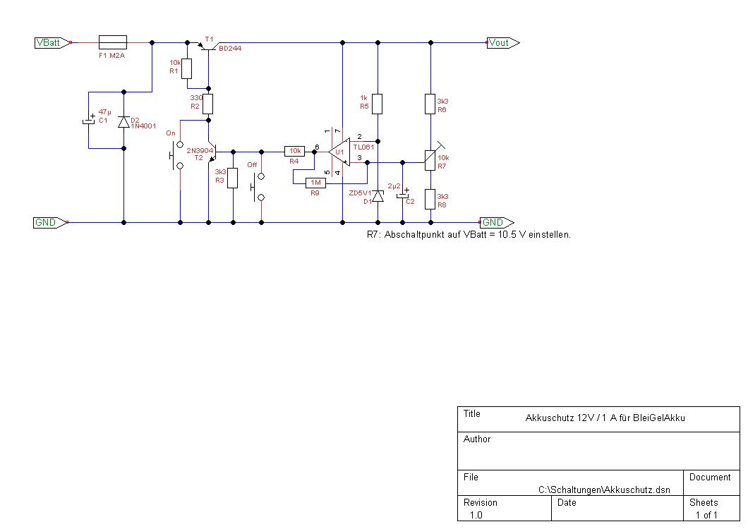 tiefentladeschutz 12VBleiAkku - Mikrocontroller.net