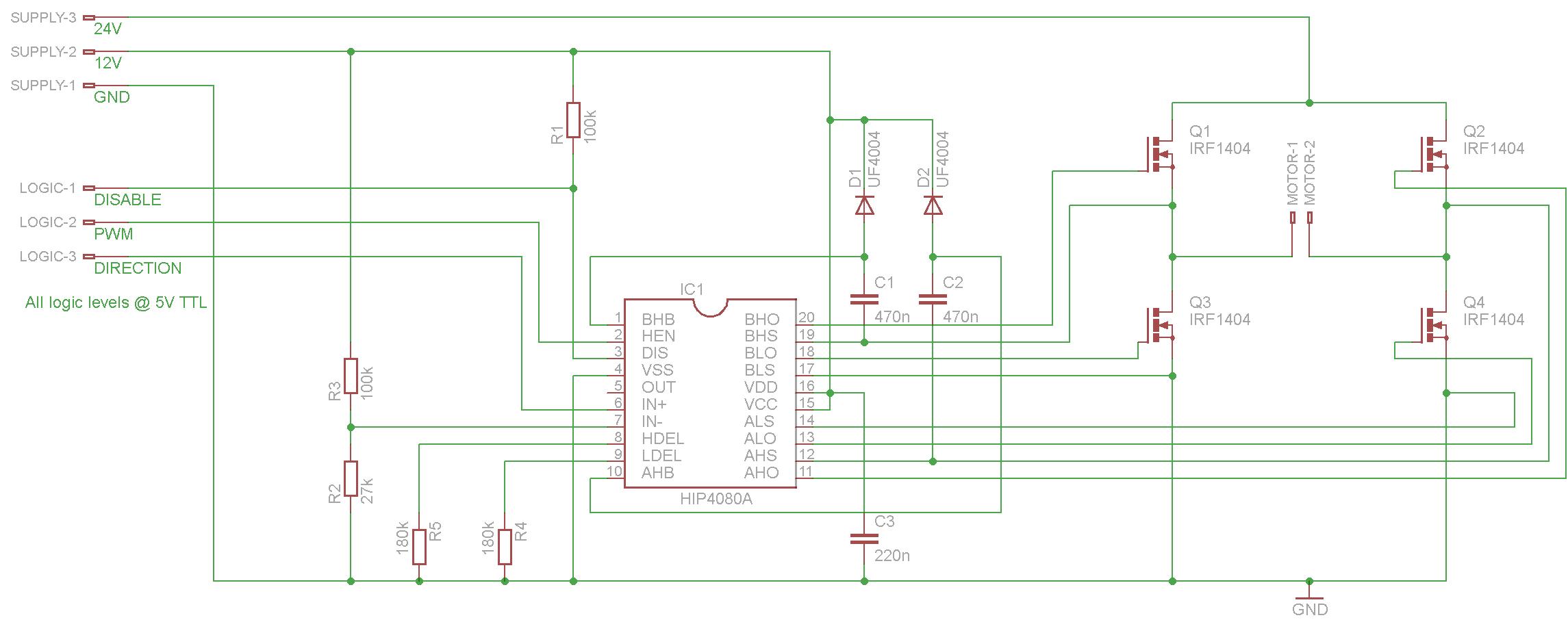 hip4080a  beschaltung kondensator  diode