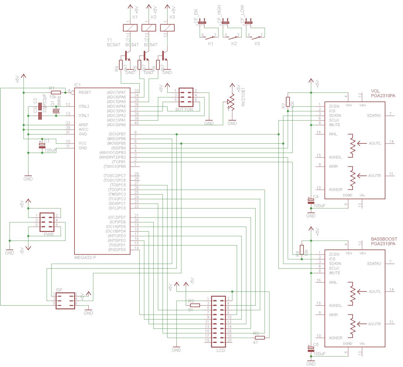 schaltplan ok? (+/- 5v netzteil, verstärker regelung, userinterface ...