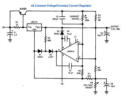 Вот схема из даташита на этот стабилизатор. http://radio-hobby.org/uploads/datasheets/lm/lm317.pdf.  1.JPG.