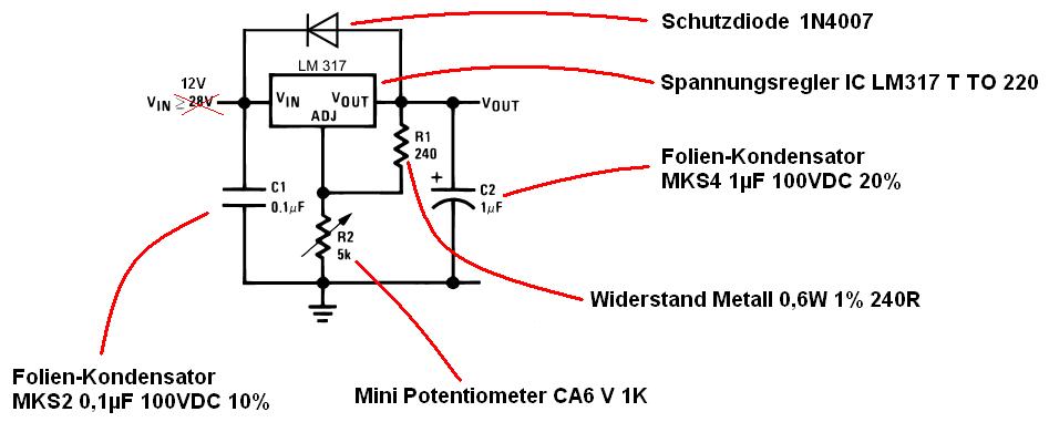 12V runterregeln - Absegnung der Schaltung / Teile - Mikrocontroller.net
