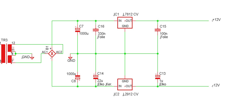 Symmetrische Spannungsversorung mit 7812 und 7912 - Mikrocontroller.net