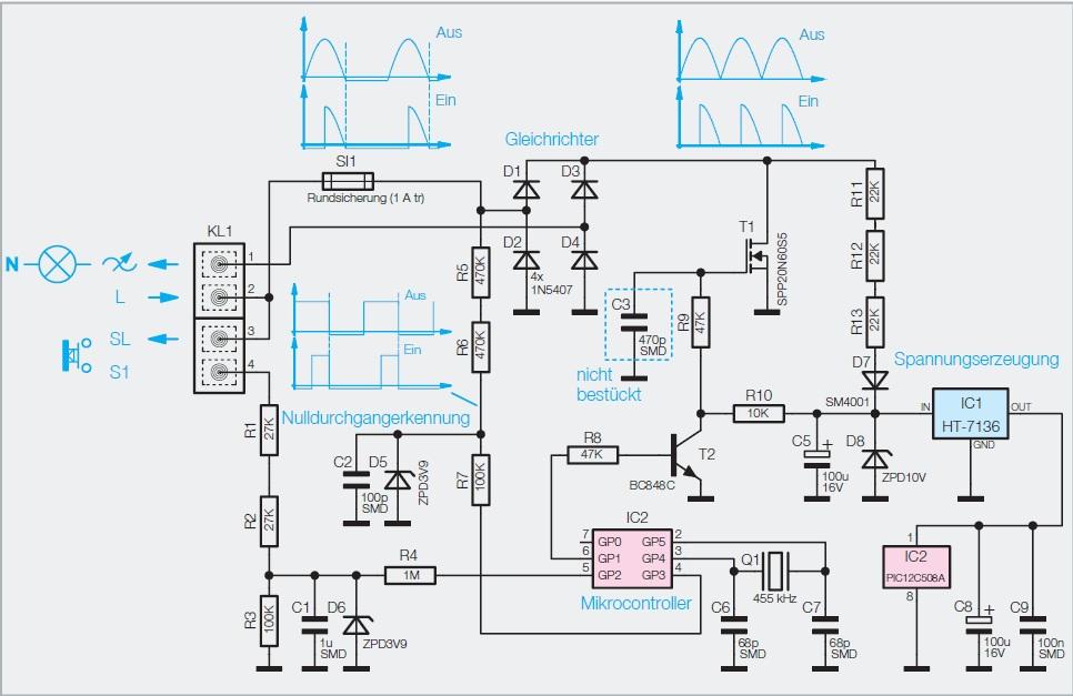 Mehrkanal Dimmer Schaltung - Mikrocontroller.net