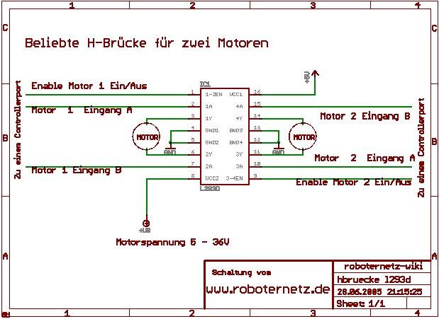 Motorsteuerung Mit L293d