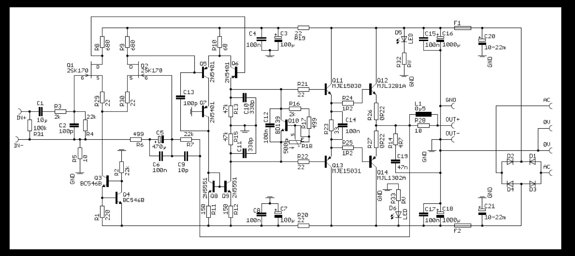 Transistor ist abgeraucht (Audio Endstufe) - Mikrocontroller.net