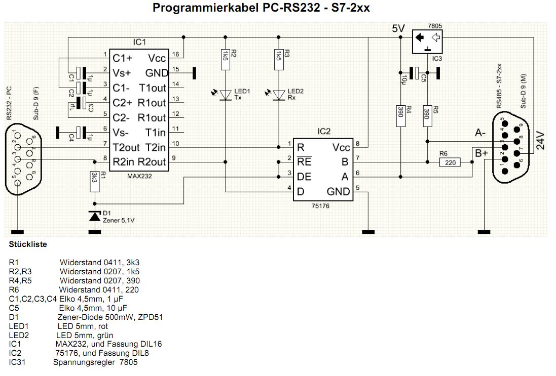 RS232 - RS485 Schaltplan - Mikrocontroller.net