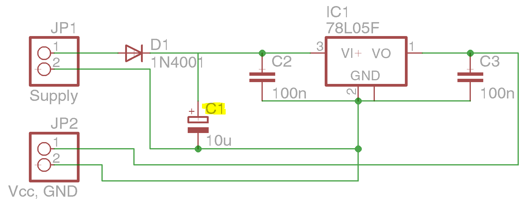 Atmega8 Spannungsversorgung Circuit Diagram Preview Image For Supply Board