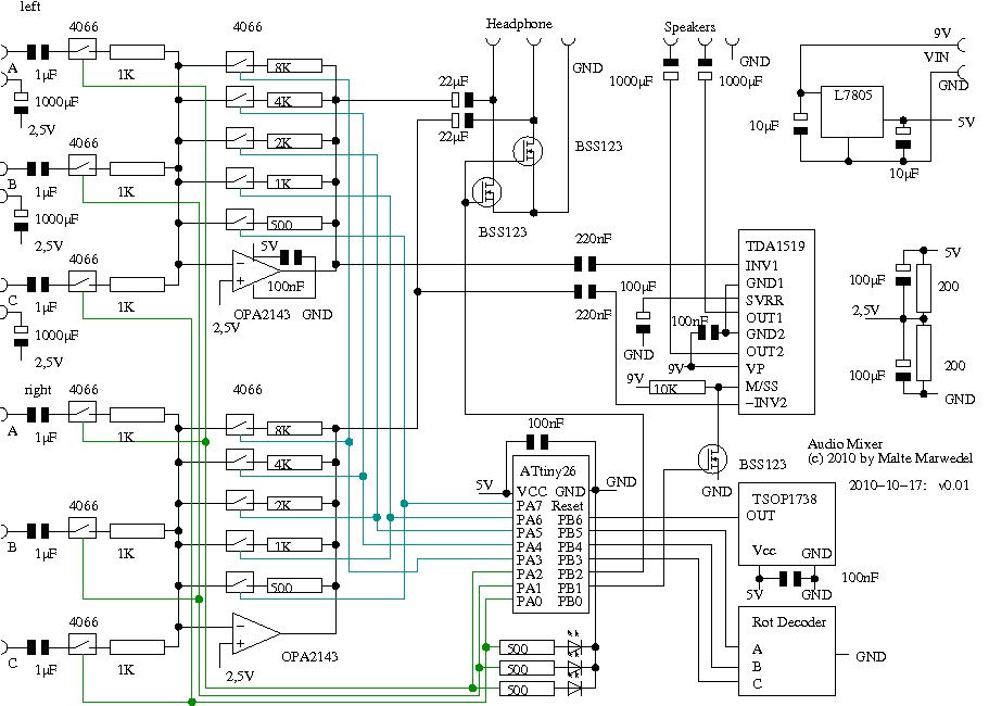 Audiomixer Schaltung so brauchbar? - Mikrocontroller.net