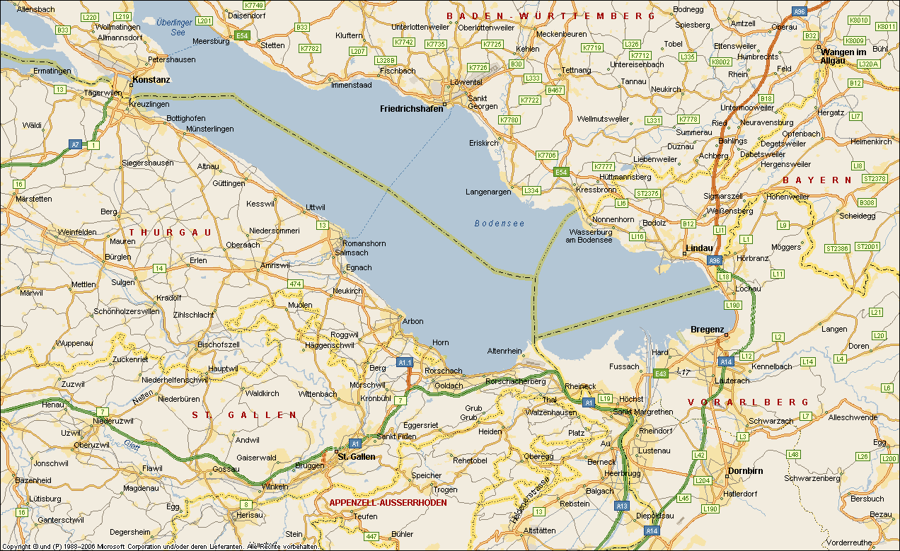 Bodensee Karte Schweiz.Schweiz Autobahn Ohne Vignette Mikrocontroller Net