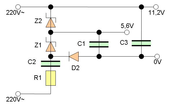 230V - 5V/100mA Spannungsversorgung ohne Trafo - Mikrocontroller.net