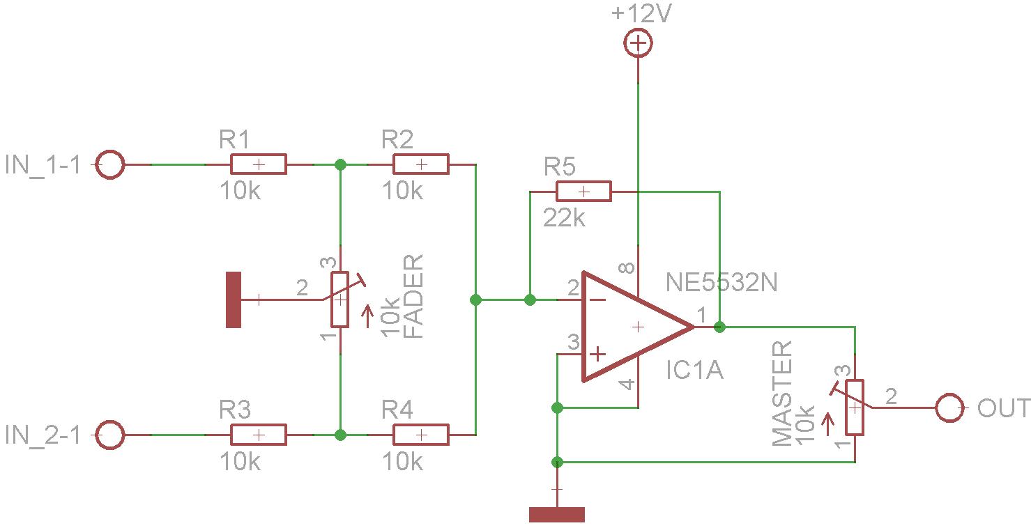 Crossfader für Mischpult - Mikrocontroller.net