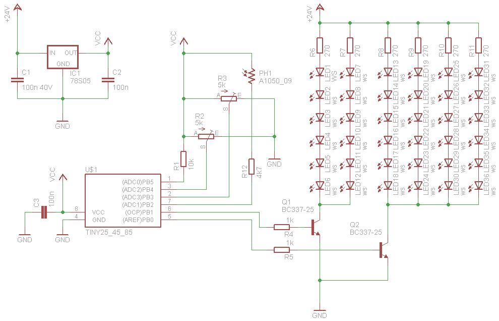 Schaltplan LED PWM-Steuerung - bitte einmal drüberschauen ...