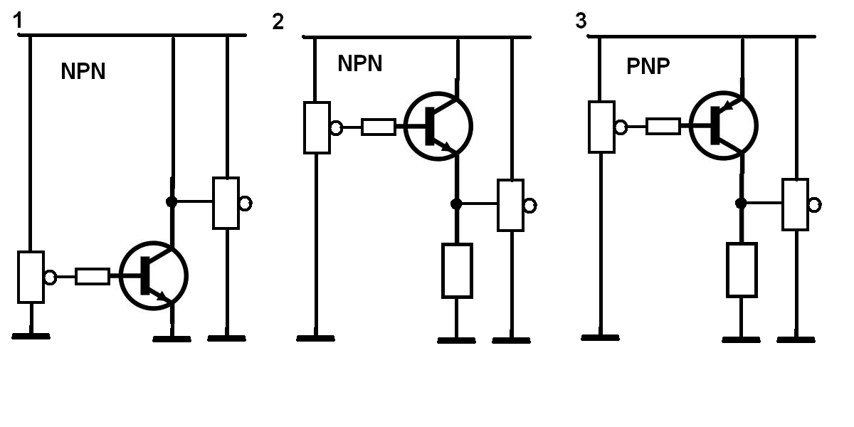 unterschiede in transistorgrundschaltungen npn und pnp