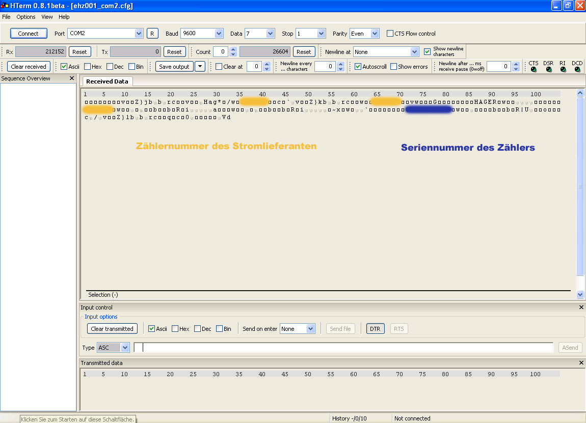 eHZ - Auslesen über rückseitige IR-Schnittstelle ...