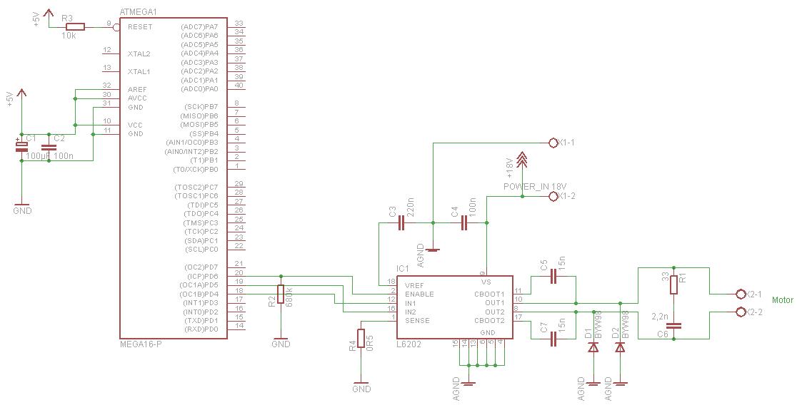 Motortreiber L6202 Mit Verschiedenen Massepotentialen