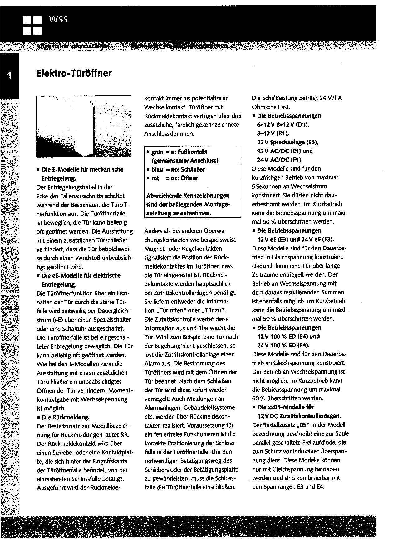 elektrischer Türöffner von Schüko-Türe: keine Reaktion ...