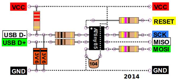 Verdrahtungsplan des Bierdeckel-Programmers