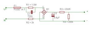 Einfache Gleichrichterschaltung für LEDs