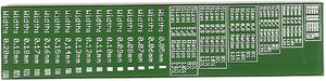 Bild von Platine mit Bestückungsdruck mit verschiedenen Parametern