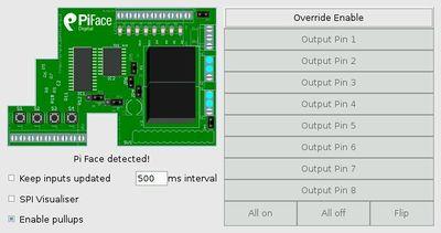 Piface-Emulator im default-Zustand