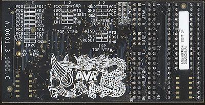 Ein AVR-Dragon der ersten Generation (Rückseite)
