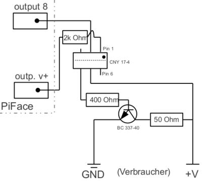 Optokoppler mit Transistor